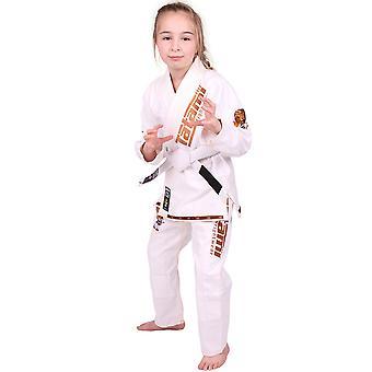 Tatami Fightwear Meerkatsu lapset eläinten BJJ Gi - valkoinen