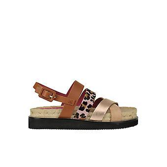 181 Ezgl315016 Women's Multicolor Leather Sandals
