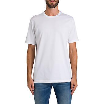 Z Zegna Vt372zz630n00 Men's White Cotton T-shirt
