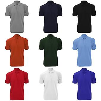 Russell Mens Ripple Collar & Cuff Short Sleeve Polo Shirt