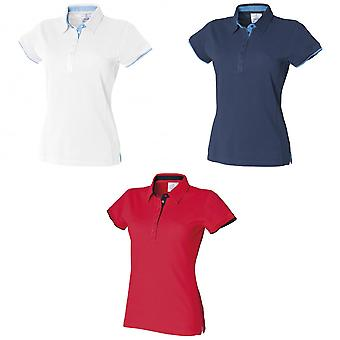 Front Row Womens/Ladies Contrast Pique Polo Shirt