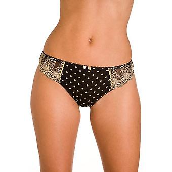 Camille Ladies Lingerie sort guld Thong