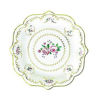 Πραγματικά chintz εκλεκτής ποιότητας floral πλάκες χαρτί πακέτο του 8 πάρτι τσαγιού