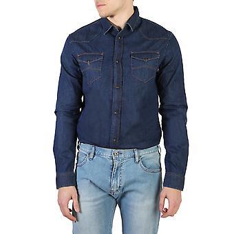 Armani Jeans Orjinal Erkek İlkbahar/Yaz Gömlek Mavi Renk - 58092