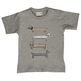 Hust-Claire Hust & Claire Babywear Γκρι tshirt με σκύλους