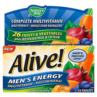 Nature's way alive! men's energy complete multi-vitamin, tablets, 50 ea