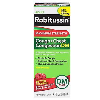 Robitussin взрослых кашель + груди заторов dm, 4 унции