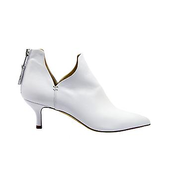 Strategia A4527bianco Women's White Leather Ankle Boots