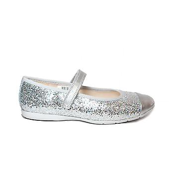 Clarks Dance Tap Toddler Silver Glitter Girls Rip Tape Mary Jane Shoes