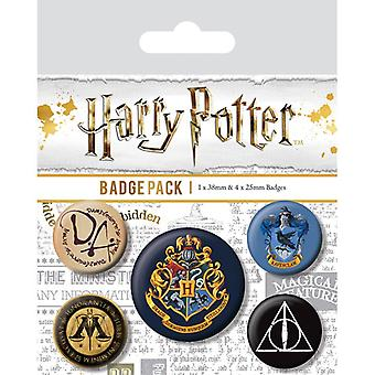 Harry Potter Hogwarts Pin Button Badges Set