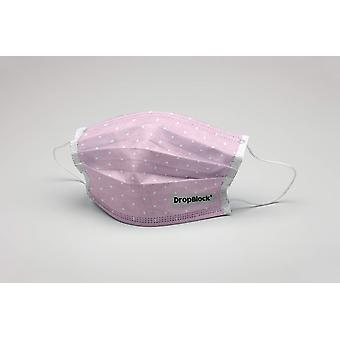 Mund maske Pink Prikker vaskbar maske beskyttende maske ökotex