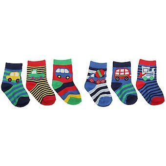 Les bébés garçons de coton riche véhicule Design chaussettes (lot de 3)