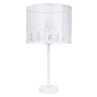 Modern and Unique White Gloss Metal Forest Design Table Lamp with Cable Switch
