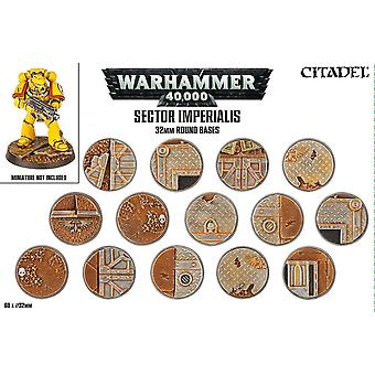 Sector Imperialis: 32mm Round Bases Citadel Hobby, Warhammer 40,000