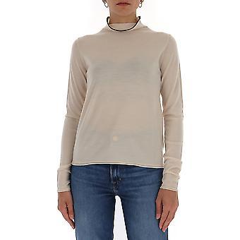 -apos;S Max Mara 93610701600056001 Femmes-apos;s Beige Cotton Sweater