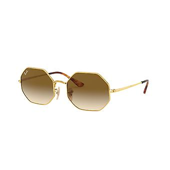 Ray-Ban Octagon RB1972 9147/51 Gold/Clear Gradient Brown Sunglasses