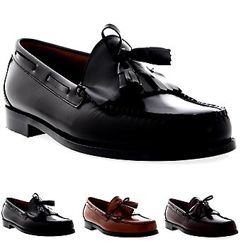 Mens G.H Bass Weejuns Layton Moc Kiltie Loafer Work Office Leather Shoes