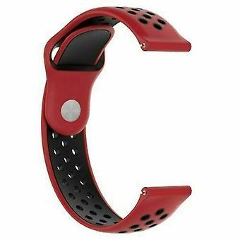 Huawei Watch GT korvaaminen silikoni urheilu bändi hihna [punainen/ musta]