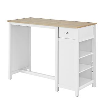 SoBuy FWT64-WN, Bar Table Kitchen Breakfast Dining Bar Table Coffee Bar Kitchen Island Counter Table