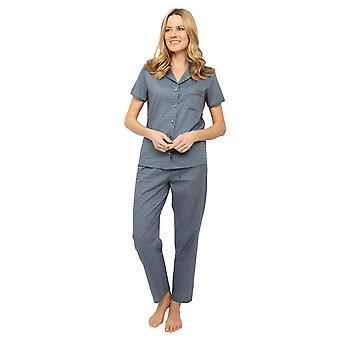 Cyberjammies Nora Rose Emelia 1427 Naiset's Harmaa Kudottu Clip Jacquard Pyjama Set