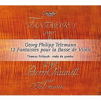 Telemann, Georg / Fritzsch, Thomas - Telemann: 12 Fantaisies Pour La Basse De Violle [CD] USA import