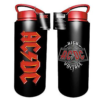 AC/DC Water Bottle Drink High Voltage Band Logo new Official Black