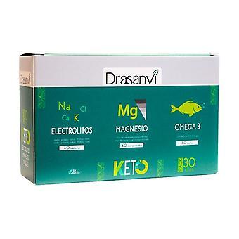 Keto Electrolytes + Magnesium + Omega 3 Pack 60 +60 + 30