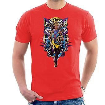 驚嘆ブラックパンサー首里ビブラニウム ガントレット コミック メンズ t シャツ