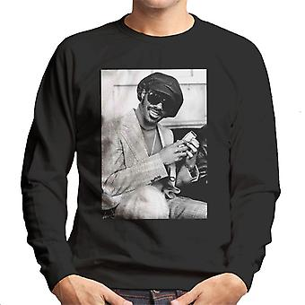 Stevie Wonder London haastattelu 1974 miesten svetaripaita