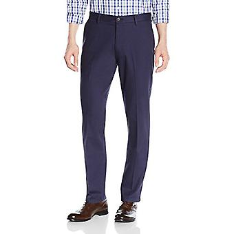 Merkki - Goodthreads Men's Straight-Fit Ryppytön Comfort Stretch Mekko Chino Pant, Navy, 34W x 28L