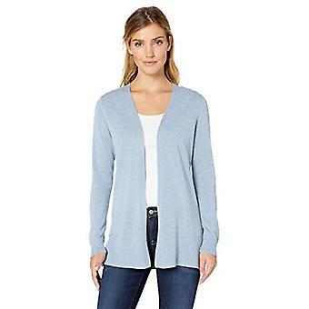 Essentials Women's Lightweight Open-Front Cardigan Sweater, Light Indi...