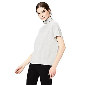 Brand - Daily Ritual Women's Slouchy Pullover Top, Light Heather Grey,...