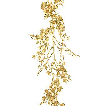 1.8m Gold Sparkle Mini Ivy Garland for Christmas Home Decoration