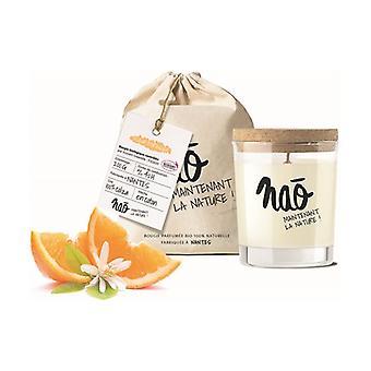 Natural scented candle orange blossom large model 40h 200 g