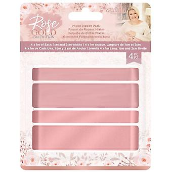 Crafter's Companion Rose Gold Mixed Ribbon Pack