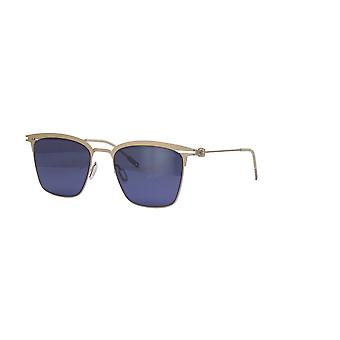 Montblanc MB0080S 008 Silver/Blue Mirror Sunglasses