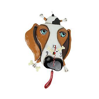 Allen Designs Buckley der Dackel Hund Wand montiert Pendel Uhr
