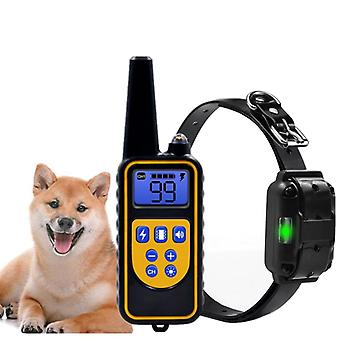 Electric Remote Dog Training Collar Waterproof Rechargeable Lcd Display For All Size Beep Shock Vibration Mode