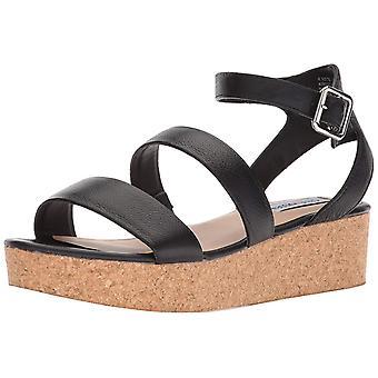 Steve Madden naisten Kirsten nahka avoin toe rento Platform sandaalit