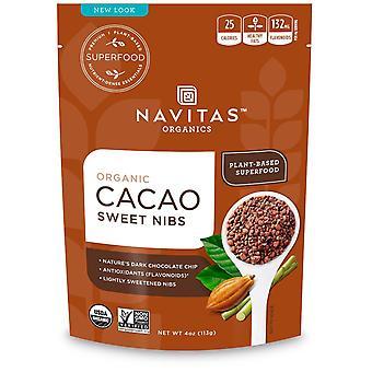 Navitas Organics, Organic Cacao Sweet Nibs, 4 oz (113 g)