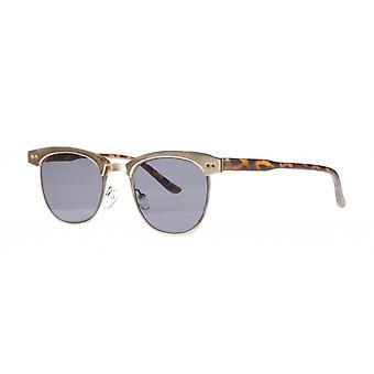 النظارات الشمسية Unisex Cat.3 مات الذهب / الدخان (aml19011a)