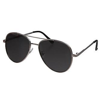 نظارات شمسية طيار للجنسين الأسود / الفضة (PZ20-009)