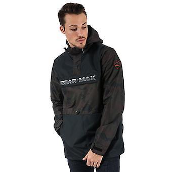 Men's Bear Max Kodiack Half Zip Windbreaker in Black