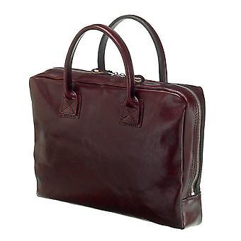 Leather Laptop Bag - The Windsor - Dark Brown