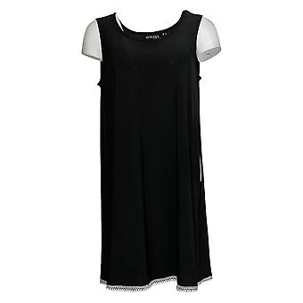 Atitudes de Renee Women's Top Como Jersey Tunic Black A353138