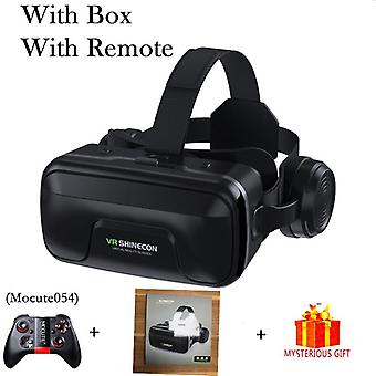 10.0 Casque Hjälm 3d-glasögon Virtual Reality Headset För Smartphone, Goggles