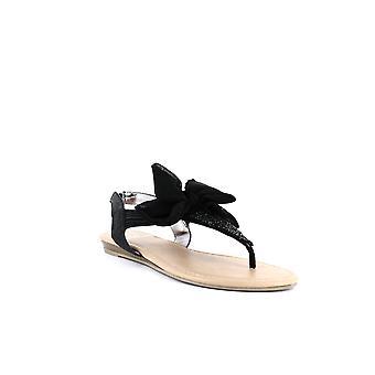 Material Girl | Swan T-Strap Sandals
