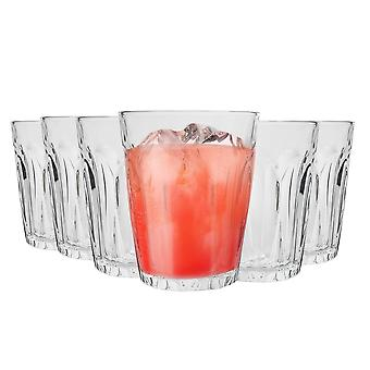 Duralex Provence Drinking Glasses - 220ml Tumblers for Water, Juice - Pack of 6