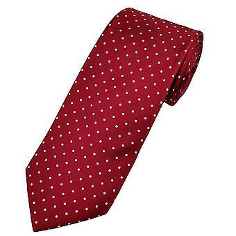 Krawatten Planet Gold Label Burgund & weiß Polka Dot gedruckt Seide Männer's Krawatte