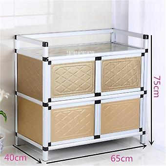 Home Aluminum Alloy Sideboard, Kitchen Furniture Side Table Storage Cabinet